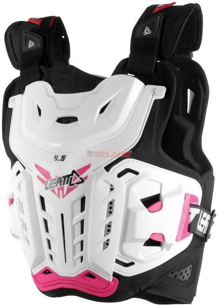LEATT Girls Brustpanzer: 4.5 Jacki, weiß/pink