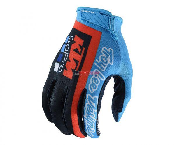 TROY LEE DESIGNS Youth Handschuh: Air Glove KTM Team, navy/orange