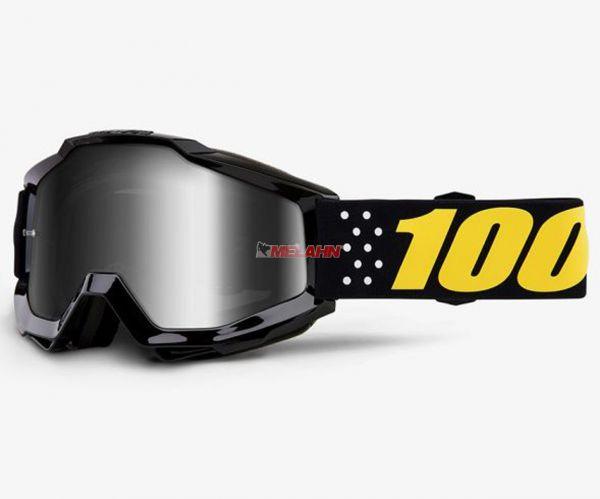 100% Brille: Accuri Pistol, schwarz/gelb