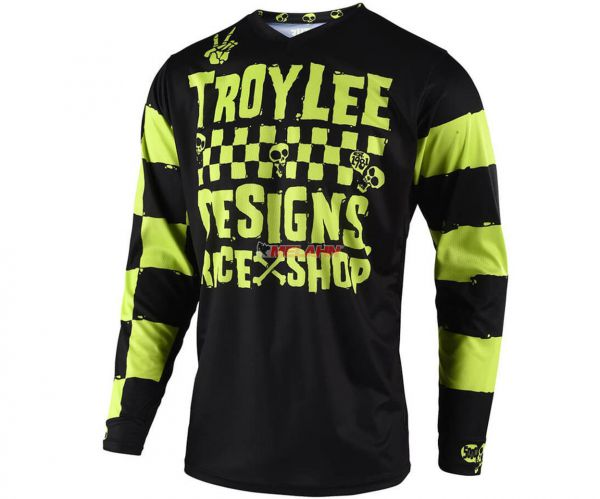 TROY LEE DESIGNS Jersey: Raceshop, schwarz/lime