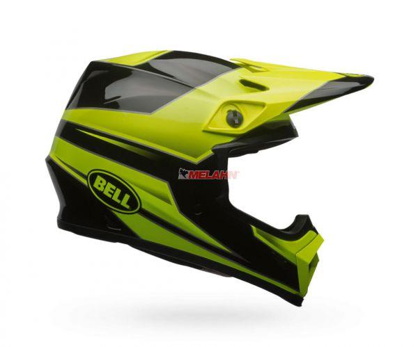 BELL Helm: MX-9, Stryker, neon-grün