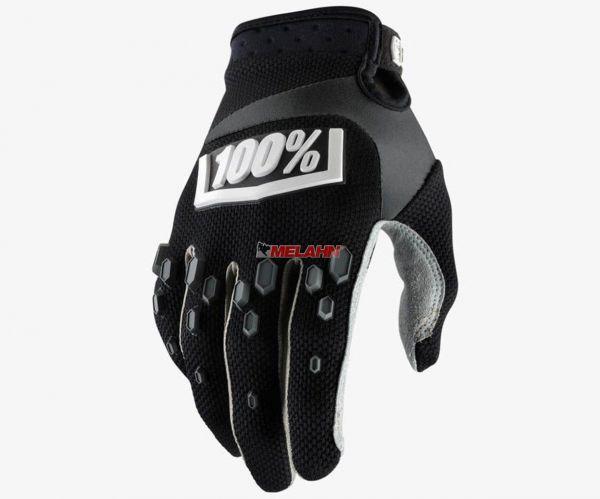 100% Handschuh: Airmatic, schwarz