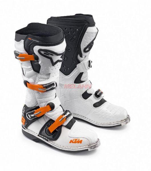 ALPINESTARS Stiefel: KTM Tech 8 RS, weiß/orange/schwarz