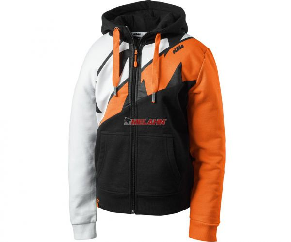 KTM Kids Zip-Hoody: Radical Sliced, schwarz/weiß/orange
