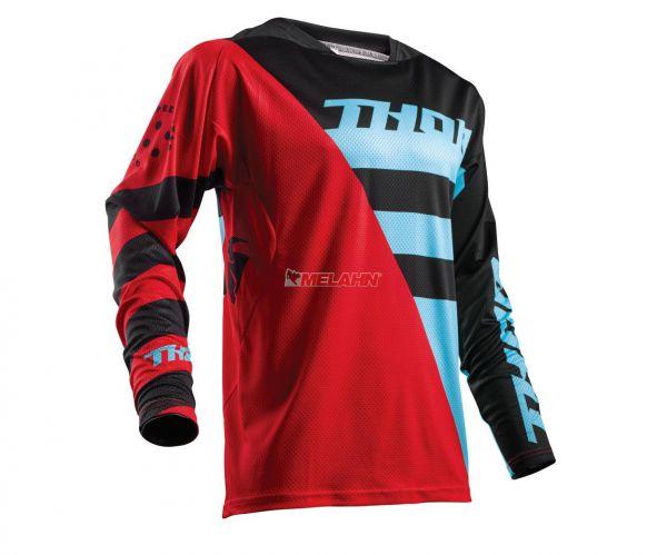 THOR Jersey: Fuse Air, rot/blau/schwarz