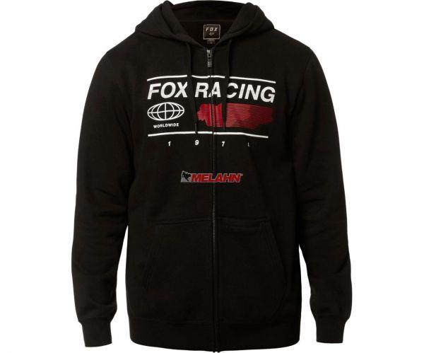 FOX Zip Hoody: Global, schwarz