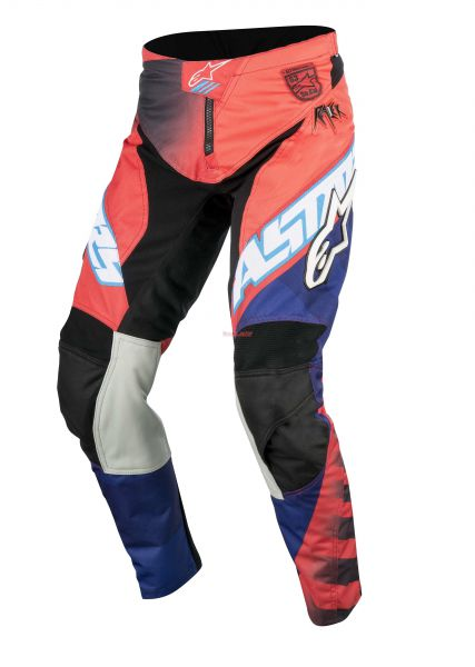 ALPINESTARS Hose: Racer Justin Barcia Limited Edition, rot/blau