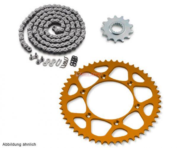 KTM Kettensatz/Kettenkit X-Ring SX/EXC orange, 13/50 Zähne