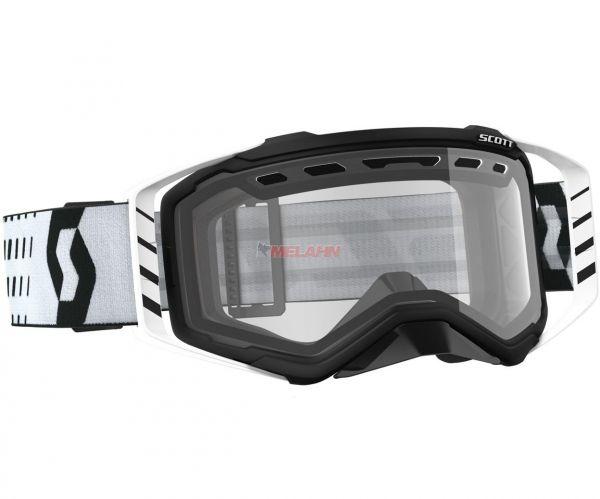 SCOTT Brille: Prospect Enduro, schwarz/weiß, klares Glas