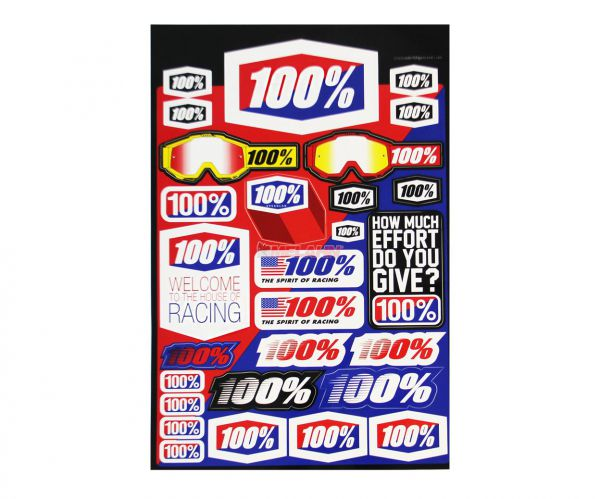 100% Aufkleber-Kit: Logo, 28-teilig
