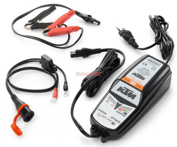 KTM Batterieladegerät mit Testfunktion für Lithium-Ionen-Batterien