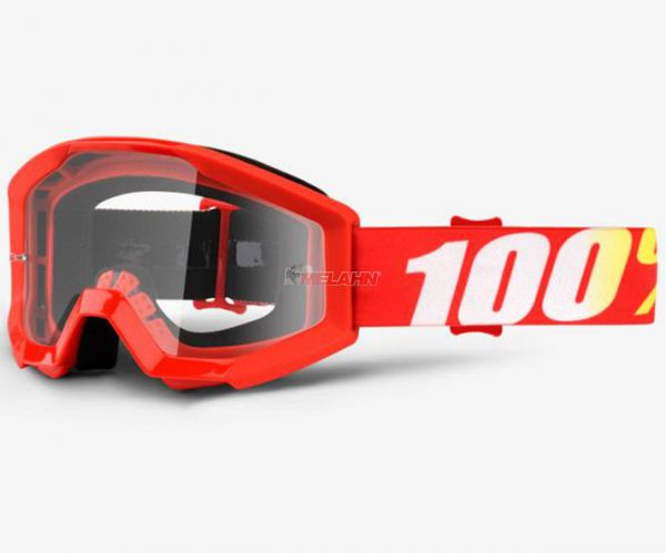100% Kids Brille: Strata Junior Furnace, rot