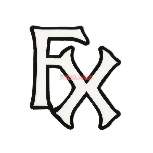 FX Aufkleber: FX-Logo schwarz/weiß, 7x6cm