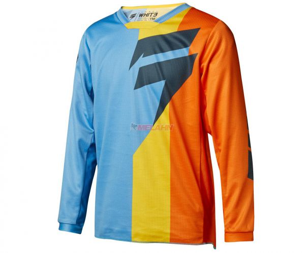 SHIFT Youth Jersey: Whit3 Tarmac, orange/blau