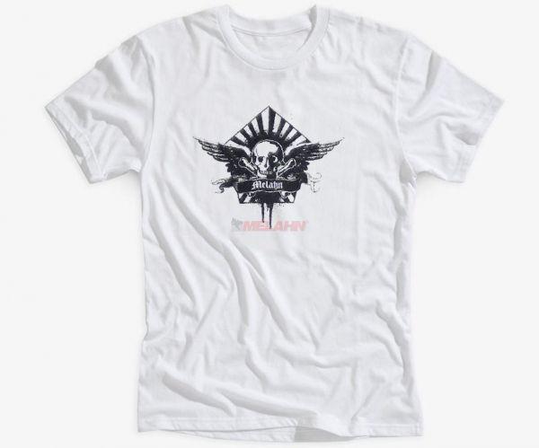 MELAHN T-Shirt: Skullwing, weiß