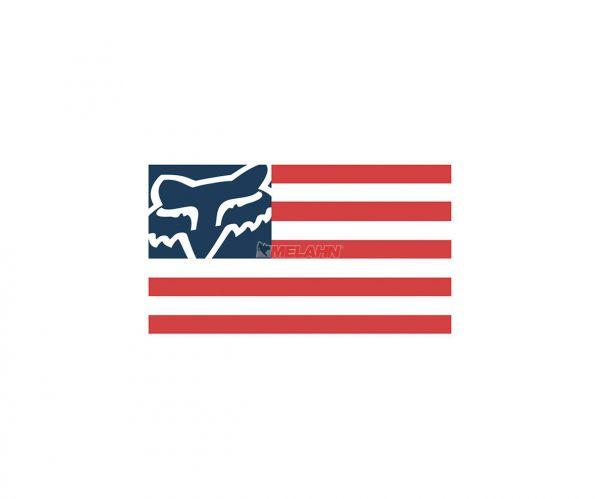FOX Aufkleber: Flagge, 15 cm, rot/blau/weiß