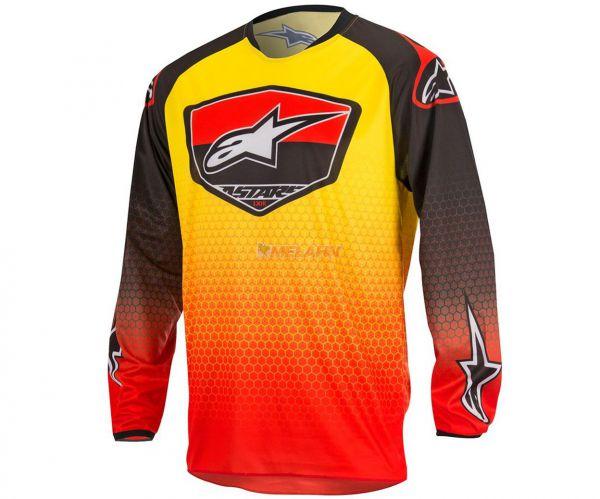 Alpinestars Jersey: Racer Supermatic,rot/schwarz/gelb