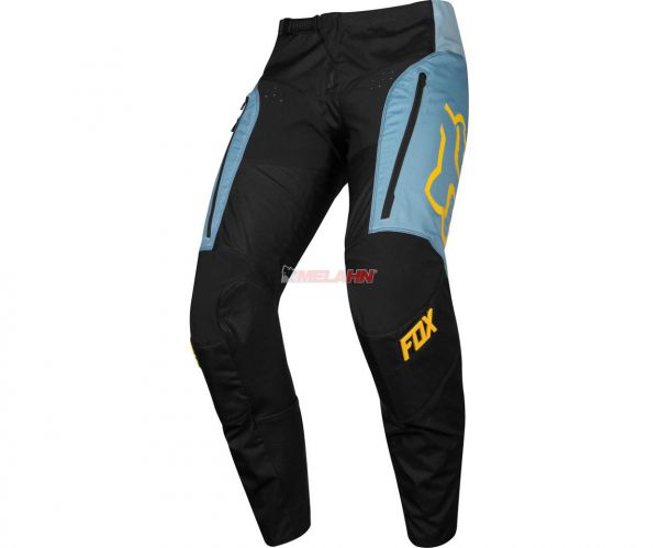 FOX Hose: Legion LT, light slate/schwarz/gelb