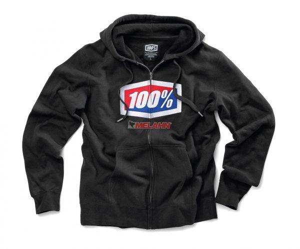 100% Hoody: Classic, schwarz
