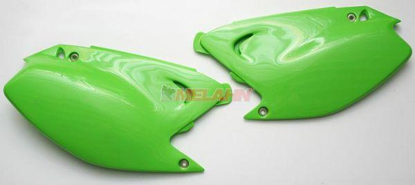 UFO Seitenteile (Paar) KX 125/250 03-08, neongrün