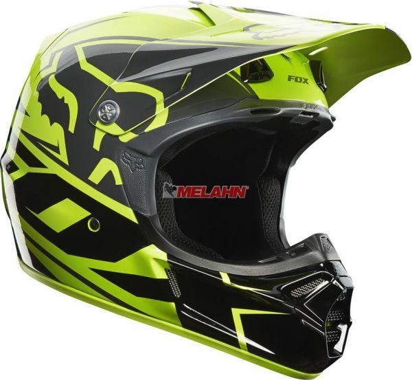 FOX Helm: V3 Toner, hellgrün