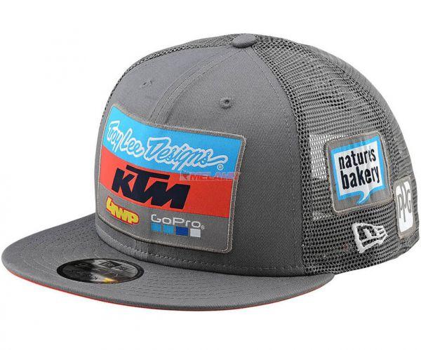 TROY LEE DESIGNS Snapback: KTM Team, grau