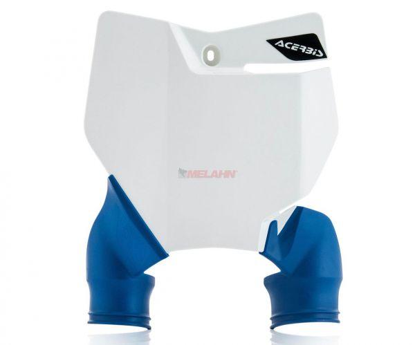 ACERBIS Starttafel: Raptor, weiß/blau, SX 16-18 / EXC 17-19