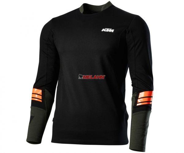 KTM Funktions-Shirt: Defender langarm, schwarz/orange
