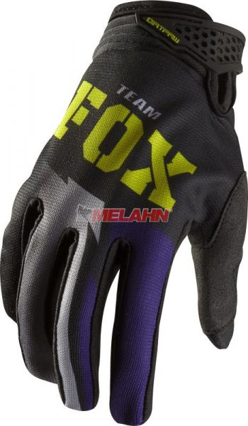 FOX Girls Handschuh: Dirtpaw, schwarz/lila, Gr.L