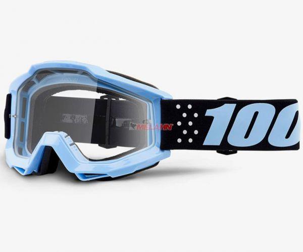 100% Accuri Taichi Goggle Motocross MTB MX Enduro Cross Brille, schwarz/blau