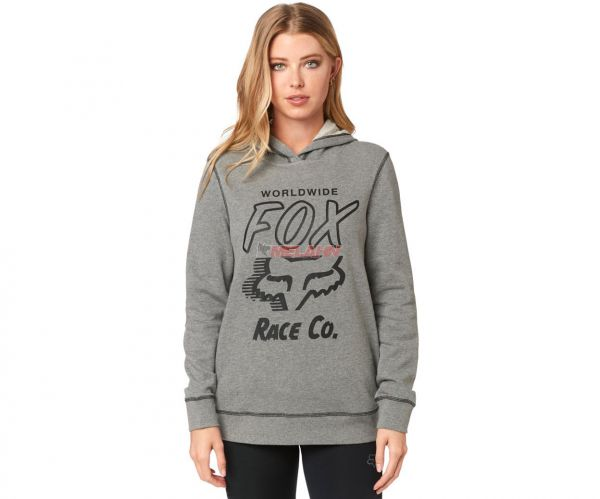 FOX Girls Hoody: Worldwide, grau