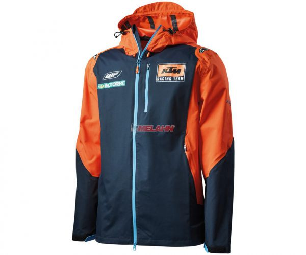 KTM Jacke: Replica Team Hardshell, blau/orange