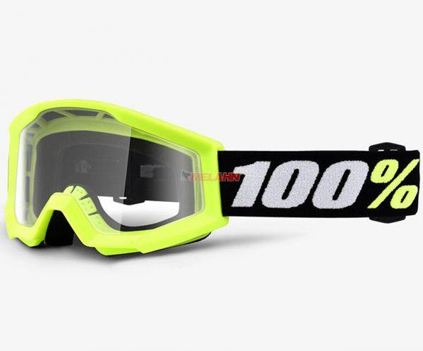 100% Kids-Brille: Strata Mini, neon-gelb