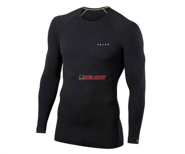 FALKE Langarm-Shirt: Warm, schwarz