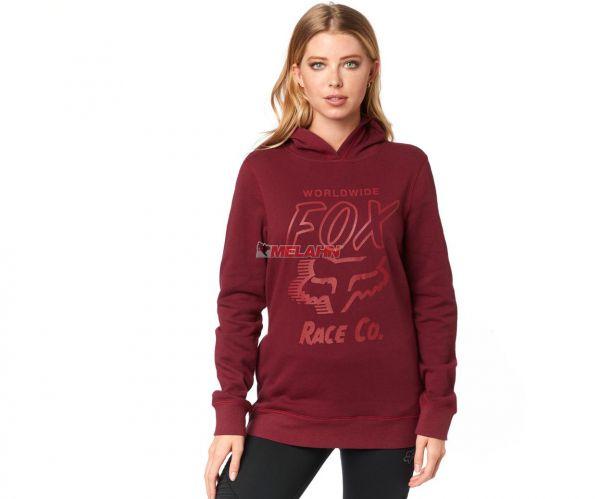 FOX Girls Hoody: Worldwide, bordeaux