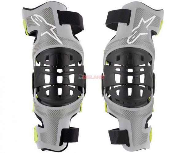 ALPINESTARS Knee-Brace (Paar): Bionic-7 silber/schwarz/neongelb