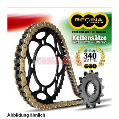 REGINA Kettensatz/Kettenkit O-Ring DRZ 400 S 1996-2009, 15/44 Zähne, 112 Glieder