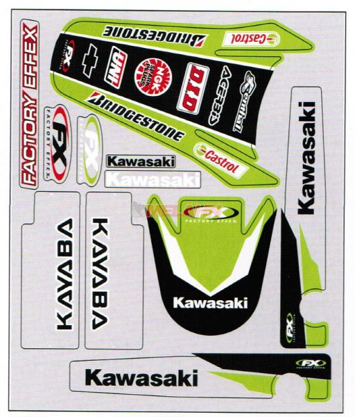 FX Aufkleber-Komplettkit KX 125/250 94-98