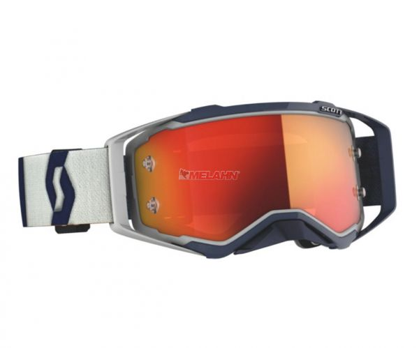 SCOTT Prospect Goggle Motocross MTB MX Enduro Cross Brille grau-dunkelblau orange verspiegelt