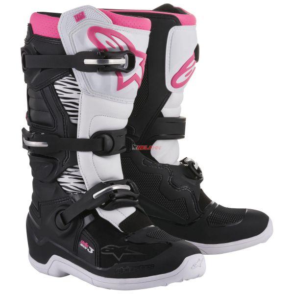 ALPINESTARS Girls Stiefel: Stella Tech 3 , schwarz/weiss/pink