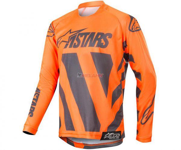 ALPINESTARS YOUTH Jersey: Racer Braap, orange/grau