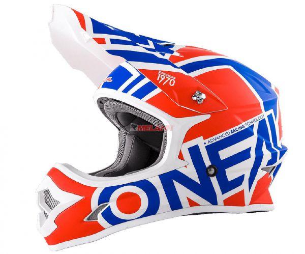 ONEAL Helm: 3Series, Radium, rot/blau/weiß, Größe S
