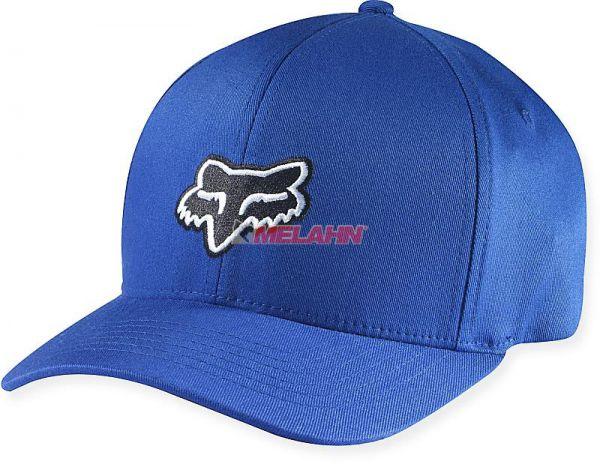 FOX Flex-Fit Cap: Legacy, blau