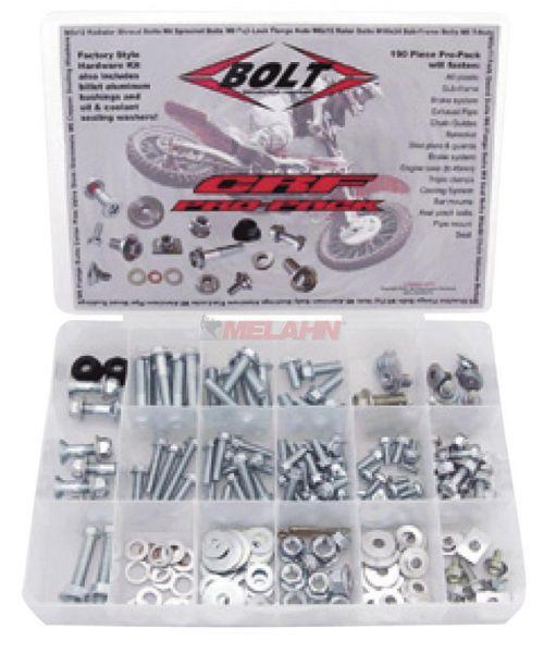 BOLT Schraubenset Pro Pack europäische Modelle 98-, 180-teilig