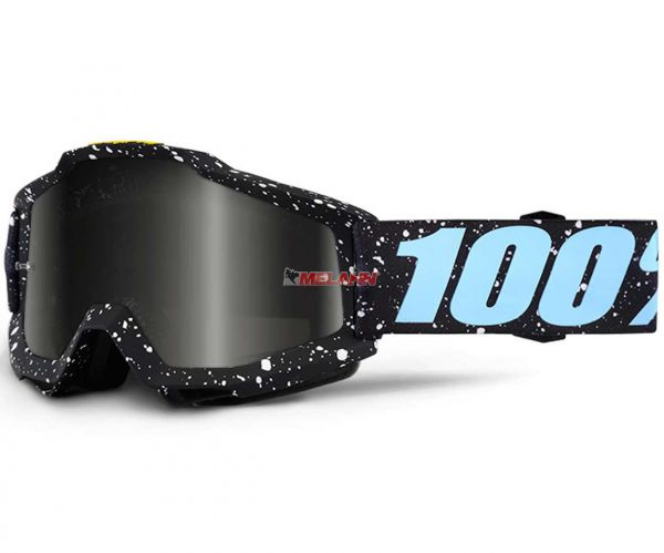 100% Kids Brille: Accuri Milkyway, schwarz/hellblau