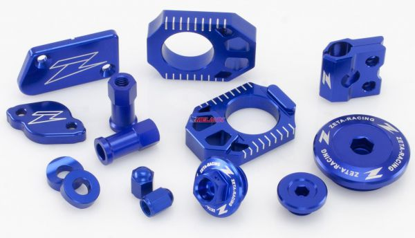 ZETA Aluminium-Frästeile-Kit HUSABERG/HUSQVARNA 13-16, blau