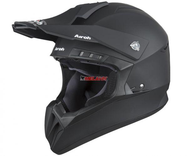 AIROH Helm: Switch Black Matt, schwarz matt