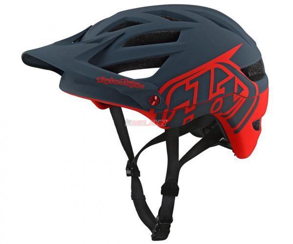 TROY LEE DESIGNS MTB-Helm: A1 Drone, grau/rot