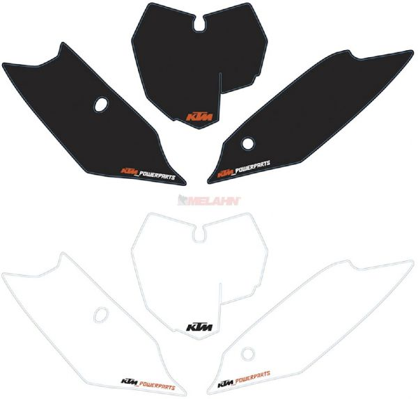 BLACKBIRD Starttafelaufkleber-Set EXC 08-11, weiß