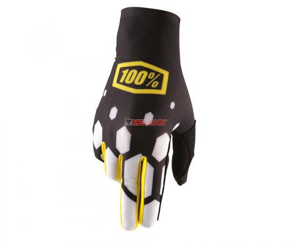 100% Handschuh: Celium, schwarz/weiß